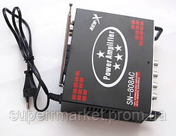 Усилитель звука  ресивер  UKC SN-808AC + Karaoke,  MP3 SD USB AUX FM 12v   220v, фото 3