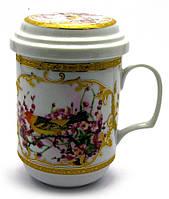 "Чашка заварочная с ситом (330 мл) ""Птица """