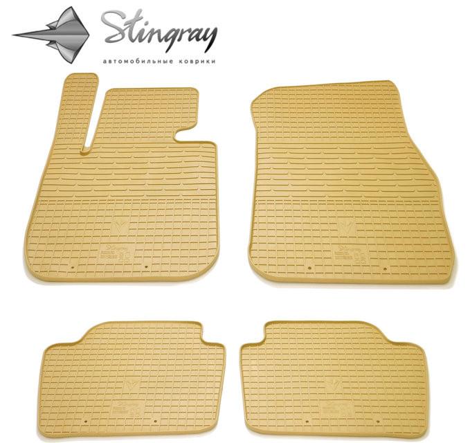Ковры резиновые в салон  BMW 4 (F32) с 2013 бежевые (4шт) Stingray