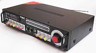 Профессиональный стерео усилитель AMP UKC KA-123+Bt c Karaoke, Bluethooth