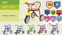 """Наименование: Велосипед 3-х колес 0202 """"Малятко """", 6цветов, гвоздик"""