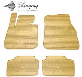 Ковры резиновые в салон BMW 3 (F30) бежевые (4шт) Stingray