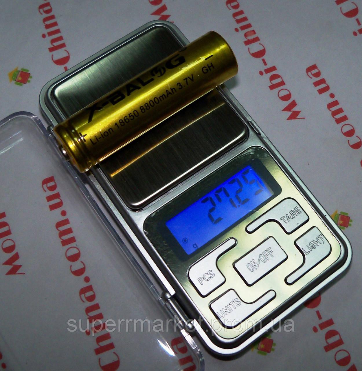 Аккумулятор Li-Ion x-balog 3.7-4.2V 8800mAh 18650  золотой