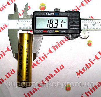 Аккумулятор Li-Ion x-balog 3.7-4.2V 8800mAh 18650  золотой, фото 2
