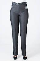 Деловые женские брюки тёмно-серого цвета