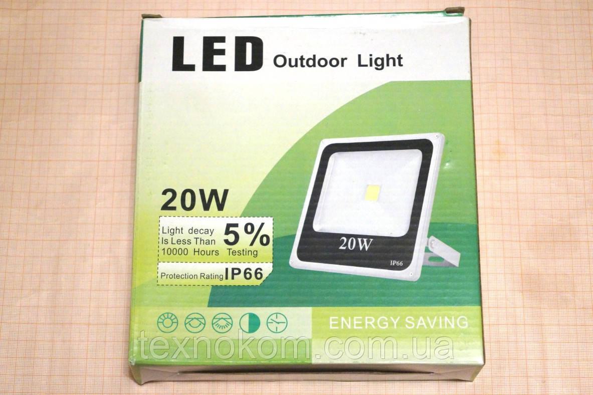 Світлодіодний прожектор 220В, 20Wt
