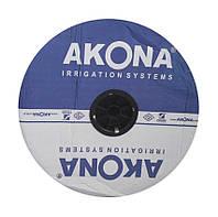 Лента капельного орошения Akona п-во Турция 6 мил, 30 см, 1.6 л/ч . 3000м