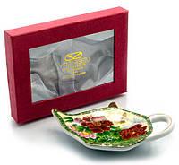"""Подставка под чайные пакетики (11,5 см) """"Пионы с бабочкой"""""""
