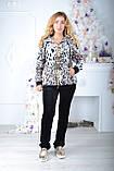 Брендовий турецький костюм Eze леопард принт, фото 2