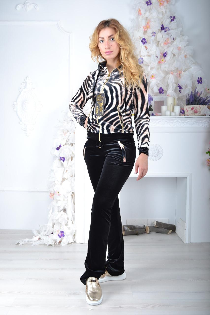 Брендовый турецкий костюм Eze тигровый принт с мордой
