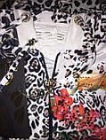 """Жіночий спортивний велюровий костюм """"Eze,"""" леопард принт троянди, розм з 42 по 54, фото 9"""