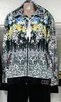 Велюровый женский турецкий спортивный костюм, больш. разм 50,52,54,56,58 , 3 расцветки