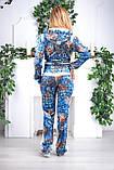 """Жіночий велюровий турецький костюм """"Eze"""", розм 50,52,54,56, фото 2"""