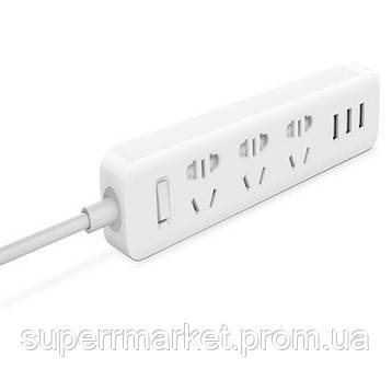 Удлинитель Mi Power Strip 3 розетки и 3 USB порта 2,5 метра White *6, фото 2