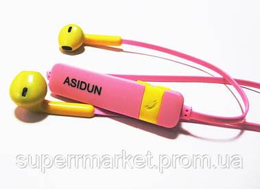 Беспроводные наушники AD-022 СПОРТ (Bluetooth + микрофон + регулятор громкости), Pink
