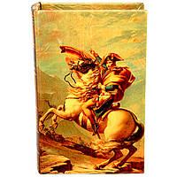 """Шкатулка книга """"Наполеон на коне"""""""