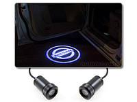 Дверной логотип LED LOGO 070 NISSAN,дверная подсветка, светодиодный логотип, подсветка двери на авто