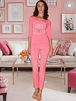 Пижама (кофта и брюки) (Персиковый)