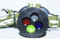 Фонарик налобный аккумуляторный BL 6804 15000W, фонарик с цветными линзами, фонарь с цветными фильтрами