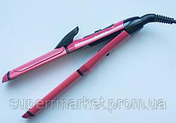 Плойка-утюжок для волос Nova NHC-2009 2в1, розовый, фото 2