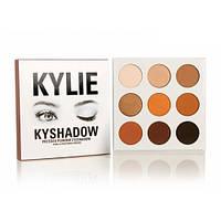 Тени Kylie Cosmetics Kyshadow The Burgundy Palette, Профессиональная палетка теней kylie kyshadow 9 оттенков