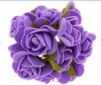 Букет роз из фомиарана (латекса) 2,5 см фиолетовый