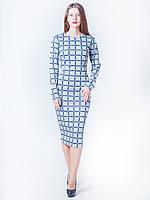 Трикотажное женское платье-футляр Аллана в клетку
