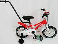 """Велосипед двухколесный """"Manchester Kid-12"""" OPT-S-N-100 (родительская ручка,обода колес двубортные усиленные DoubleWall, спицы утолщенны,электрический"""