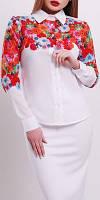 """ПП Украина Блузка с длинным рукавом """"Верина  3"""", блуза с 42  по 48 размер"""