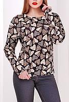 """ПП Украина Блузка с длинным рукавом """"Пиаф"""", блуза с 42  по 48 размер"""