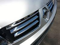 Renault Trafic 2001-2015 гг. Накладки на решетку радиатора (6 шт, нерж) OmsaLine - Итальянская нержавейка