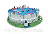 Бассейн каркасный Intex 28324(28322). Каркасный бассейн для всей семьи.