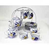 Чайный набор 15пр керамический SL-1210-Т Синяя