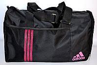 Стильная дорожная сумка ADIDAS сетка P13 (черно-розовый) SU-1125, фото 1
