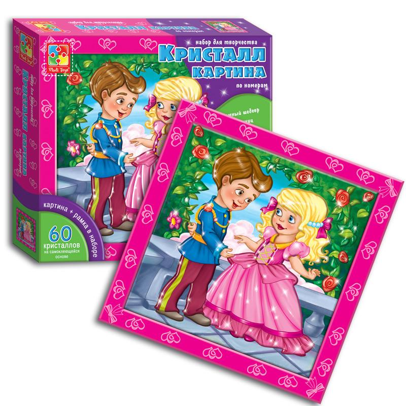 Кристалл картина Vladi Toys Принцесса принц (Рус) (VT4010-02)