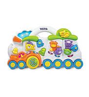 """Музыкальная игрушка Weina """"Паровозик с животными"""" (2106)"""