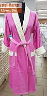 Женский халат велюр розовый ZERON