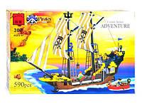 """BRICK 307 """"Пиратский Корабль"""" 590 дет, в коробке"""