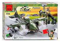 """BRICK 810 """"Военный самолет"""" 225 дет, в коробке"""