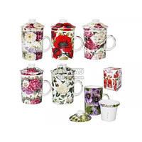 Чашка заварочная S&T Цветы 300 мл 2052-1