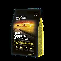 Корм Profine Adult Chicken&Potatoes, для взрослых собак, курица и картофель, 15 кг