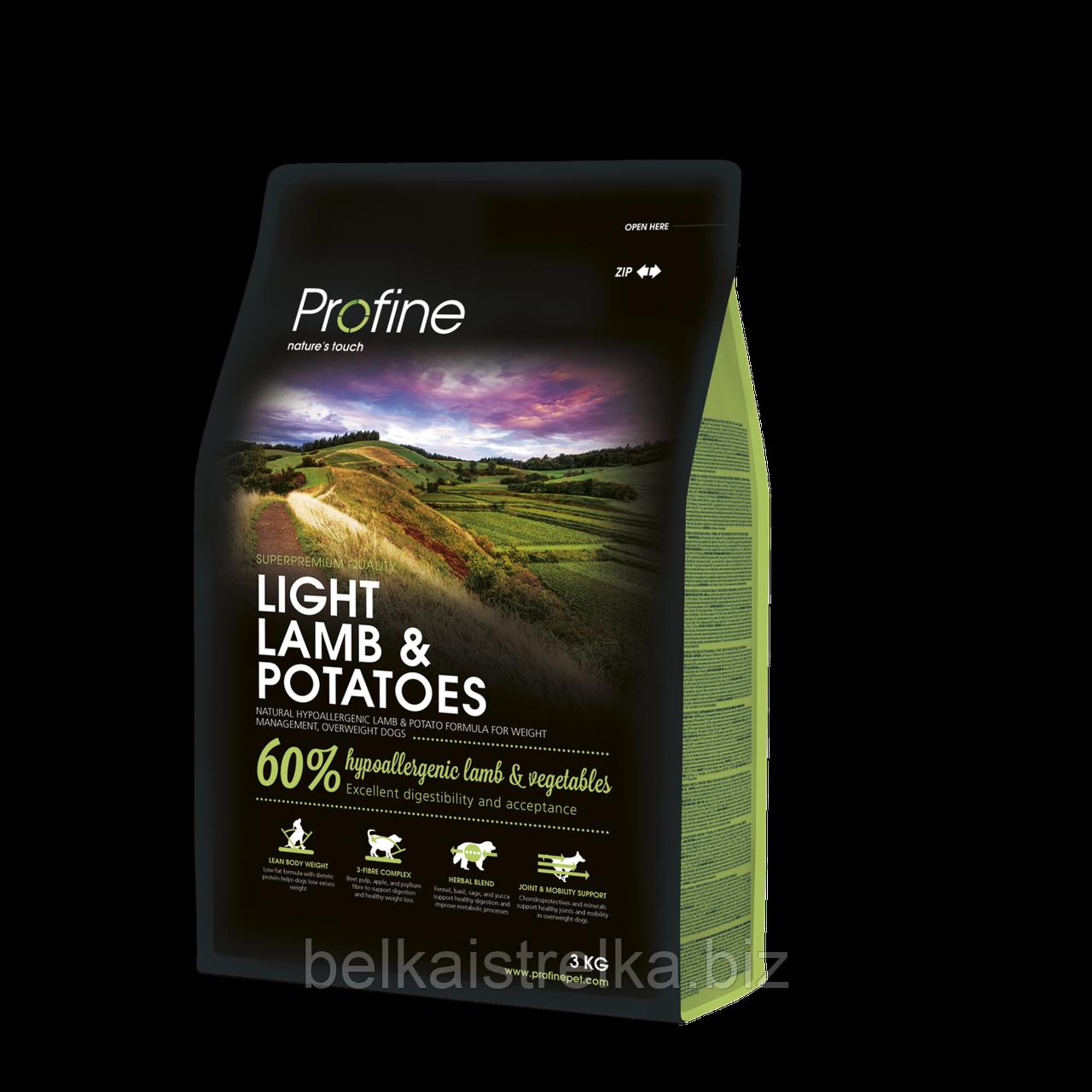 Корм Profine Light Lamb, для оптимизации веса, ягненок и картофель, 3 кг 170552
