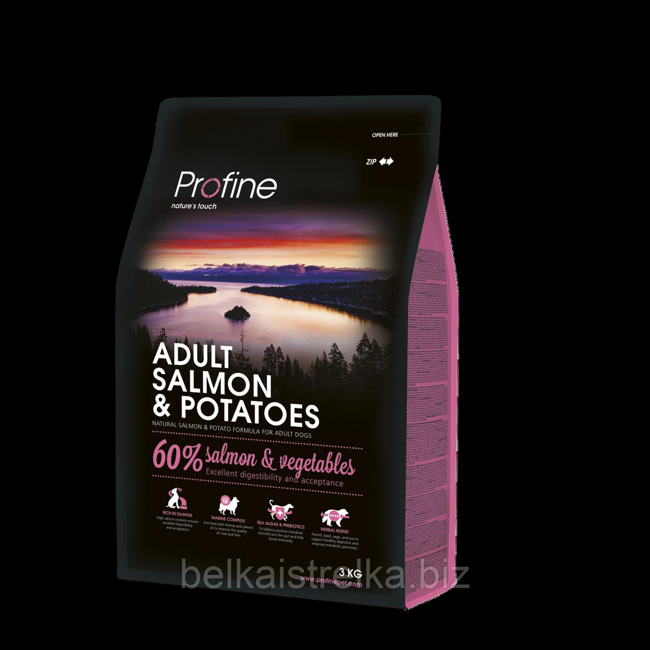 Корм Profine Adult Salmon, для взрослых собак, гипоаллергенный, лосось, 3 кг 170554