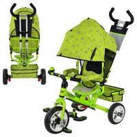 Детский трехколесный велосипед M 0448-2 Profi Trike (зеленый) М 5363-2-1