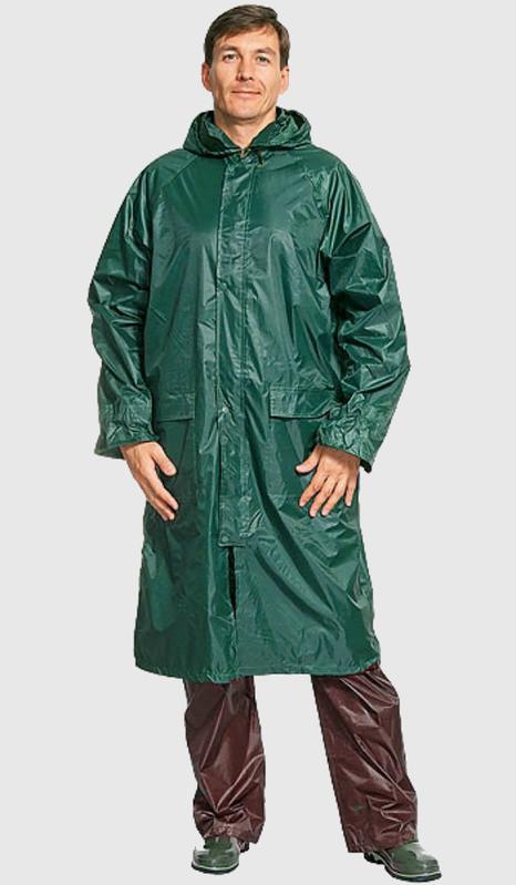 Плащ дождевик не промокаемый зелёный