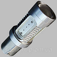 Светодиодная лампа в габарит/стоп сигнал с цоколем 1157(P21/5W)(BAY15D)-11W-Красный