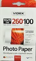 Фотобумага Videx HGA6-260/100 глянец