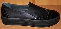Женские туфли кожаные на толстой подошве, кожаные женские туфли от производителя модель ВТ1417, фото 1
