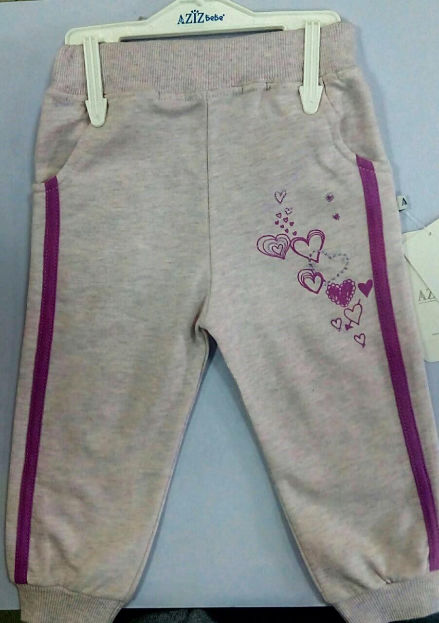 Спортивные штанишки для маленькой девочки тм Aziz Bebe р-ры 86