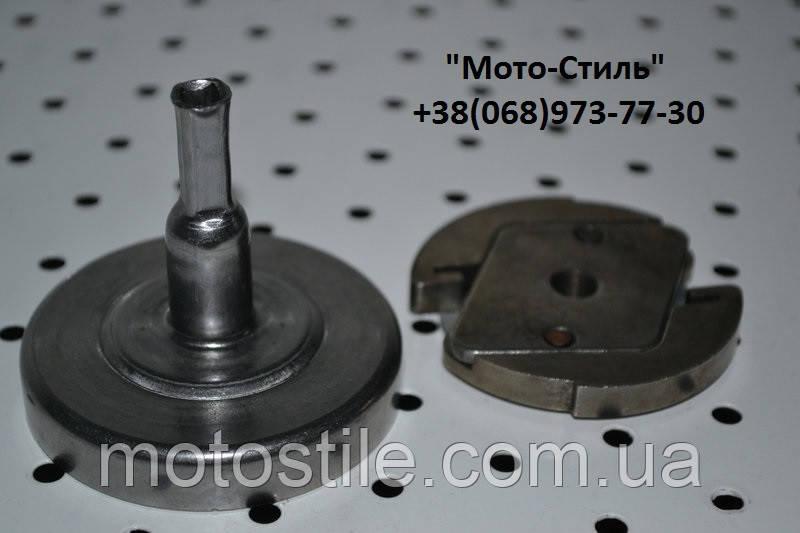 Тарелка сцепления (квадрат) + сцепление для мотокос, бензокос SADKO GTR-320, Vorskla, SunGarden GB 25-GB 25A